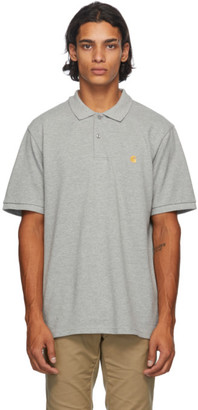 Carhartt Work In Progress Grey Chase Polo