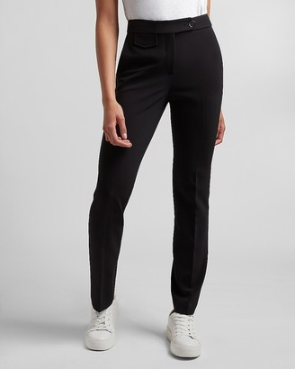 Express High Waisted Side Tab Slim Pant
