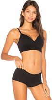 Yummie by Heather Thomson Dawn Wire Free Contour Bra in Black. - size S (also in XS)