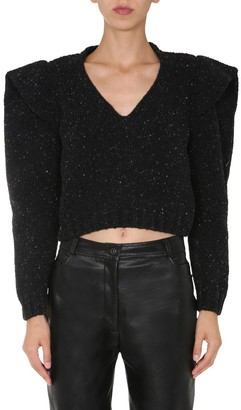 Philosophy di Lorenzo Serafini V-Neck Shoulder Detailed Sweater