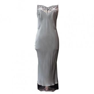 John Galliano Grey Silk Dress for Women Vintage