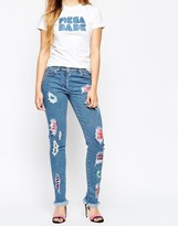 House of Holland Plaid Skinny Jeans