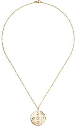 Kiki McDonough 18kt yellow gold Jemima lemon quartz and diamond pear pendant