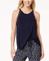 DKNY Mesh-Detail Pajama Tank Top