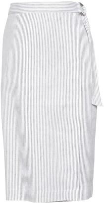 Banana Republic Linen-Cotton Wrap Skirt