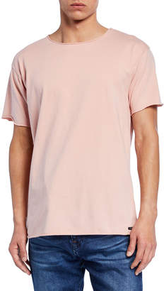 Scotch & Soda Men's Raw-Edge Organic Cotton T-Shirt