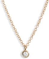 Ef Collection Bezel Diamond Pendant Necklace