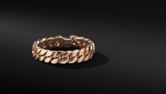 David Yurman Curb Chain Bracelet In 18K Rose Gold