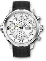 IWC Men's 44mm Black Rubber Band Steel Case Sapphire Crystal Automatic -Tone Dial Watch IW376801