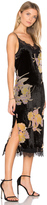 Band of Gypsies Burnout Velvet Midi Dress