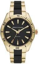 Armani Exchange Enzo Men's Two Tone Bracelet Watch