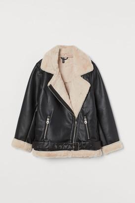 H&M Faux Shearling-detail Jacket