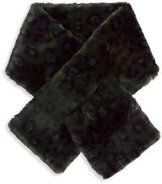 CHARLOTTE SIMONE Clara Faux-Fur Pull-Through Scarf
