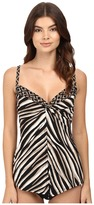 Miraclesuit Opposites Attract Love Knot Tankini Top Women's Swimwear
