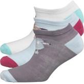 Fruit Cake Fruitcake Womens Dog Print Trainer Liner Socks Purple