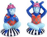 Tracy Porter Reverie Blue Monkey Salt & Pepper Set