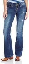 YMI Jeanswear Junior's Wannabettabutt Expose Button Flare