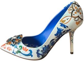 Dolce & Gabbana Taormina Multicolour Leather Heels