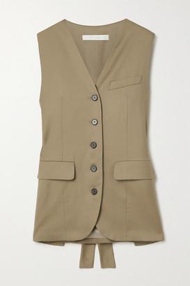 Low Classic Wool-twill Vest - Mushroom