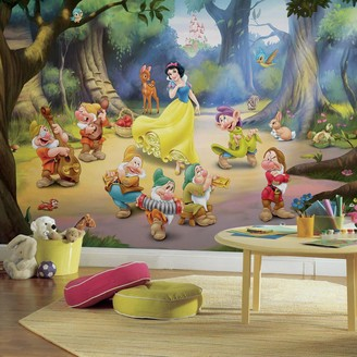 York Wall Coverings Disney's Snow White and the Seven Dwarfs Removable Wallpaper Mural