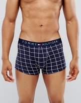 Tommy Hilfiger Check Logo Trunks Navy
