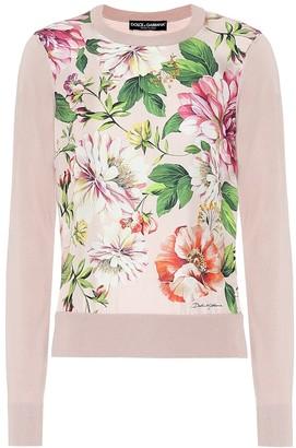 Dolce & Gabbana Floral silk sweater