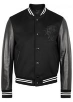 Alexander Mcqueen Black Bead-embellished Wool Blend Jacket