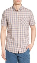 Jeremiah Men's Solana Regular Fit Herringbone Plaid Sport Shirt