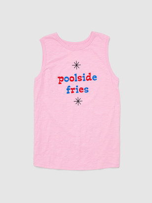 ban.do Poolside Fries Slub Muscle Tank