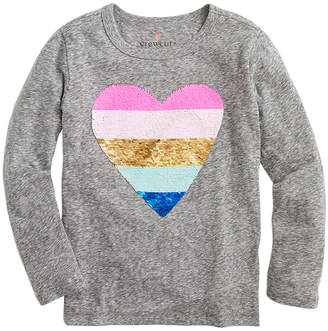 J.Crew Crewcuts By Reversible Sequin Heart Graphic T-Shirt