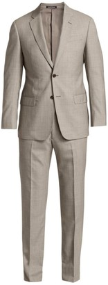 Emporio Armani Micro Houndstooth Super 140S Wool Suit