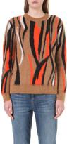 Sandro Dakota animal-print knitted jumper