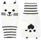 Forever 21 FOREVER 21+ Cat Print Fingerless Gloves