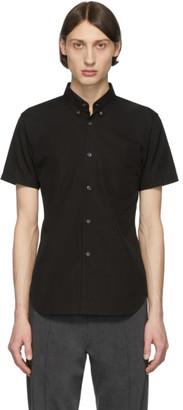 Comme des Garcons Black Cotton Poplin Short Sleeve Shirt