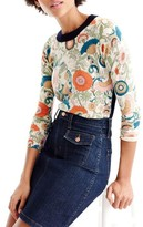 J.Crew Women's Tippi Ornate Floral Sweater