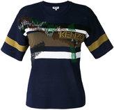 Kenzo striped T-shirt - women - Polyamide/Viscose - L