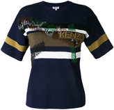 Kenzo striped T-shirt - women - Polyamide/Viscose - XS