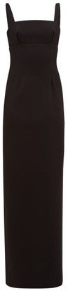 Emilia Wickstead Magdalina Panelled Double-crepe Maxi Pencil Dress - Womens - Black