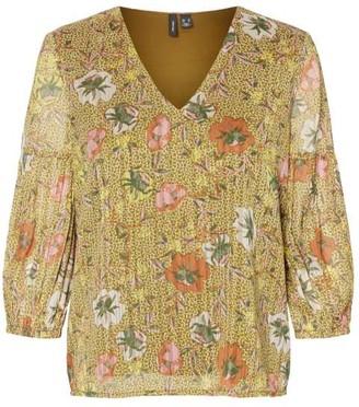Vero Moda V-Neck Floral Top - XS | polyester