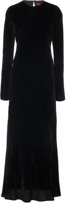 Sies Marjan Josephine Velvet Silk-Blend Gown