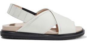 Marni Fussbett Glossed-leather Slingback Sandals