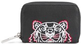 Kenzo embroidered zipped coin wallet