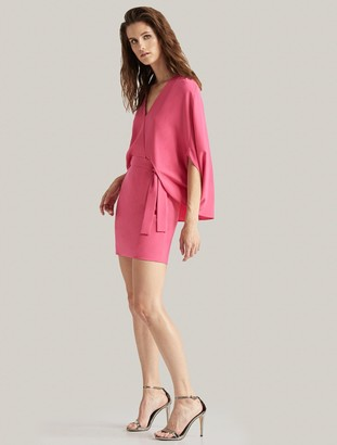 Halston Draped Sleeve Dress