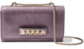 Valentino Garavani Va Va Voom Snake-effect Leather Shoulder Bag