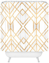 "Deny Designs Elisabeth Fredriksson Golden Geo Shower Curtain, Standard 69""x72"""