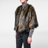 Paul Smith Women's Mixed-Colour Faux Fur Cropped Jacket