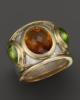 Bloomingdale's Citrine and Peridot Statement Ring in 14K White and Yellow Gold