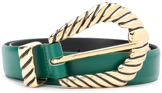 Alberta Ferretti Statement Buckle Belt