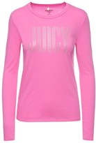 Juicy Couture Outlet - LOGO CRYSTAL COUTURE LONG SLEEVE TEE