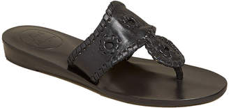 Jack Rogers Jacks Demi-Wedge Whipstitch Thong Sandals